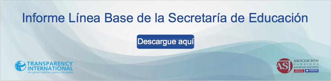 Informes línea de Base de la Secretaria de Educación